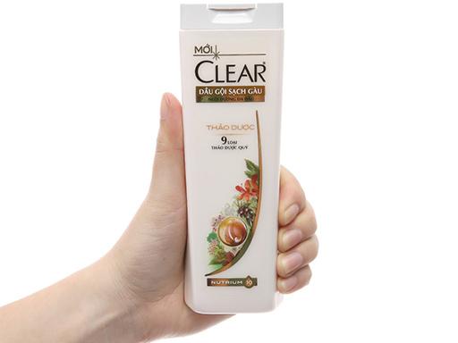 Bao bì dầu gội Clear Thảo dược loại 180 gram